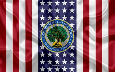 United States Department of Education Emblem, American Flag, United States Department of Education logo, USA, United States Department of Education
