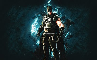 Fortnite Batman Zero Skin, Fortnite, main characters, blue stone background, Batman Zero, Fortnite skins, Batman Zero Skin, Batman Zero Fortnite, Fortnite characters