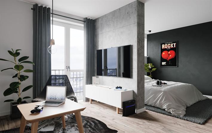 Scarica sfondi appartamento elegante, design moderno degli interni ...