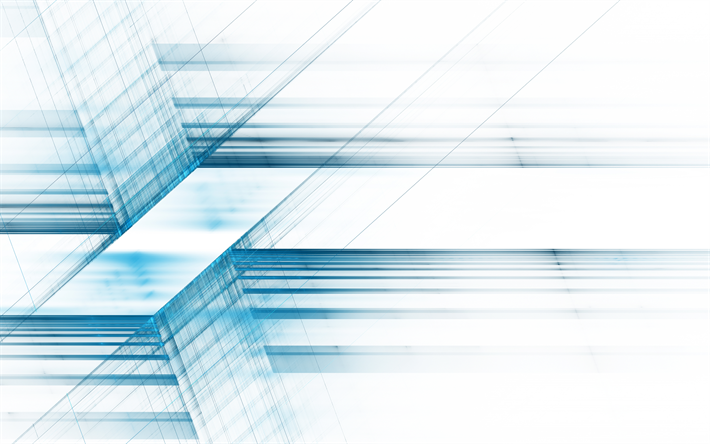 Download Wallpapers 4k Blue Lines Creative Strips Abstract Art Geometry For Desktop Free Pictures For Desktop Free