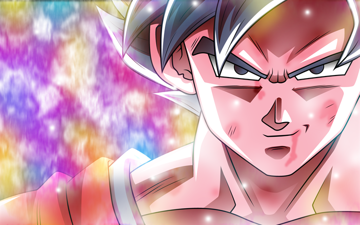 Blue Goku, Super Saiyan Blue, DBS, portrait, Super Saiyan God, Dragon Ball Super, manga, Dragon Ball, Son Goku