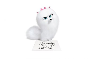 The Secret Life of Pets 2, 2019, Gidget, characters, promotional materials, Pomeranian