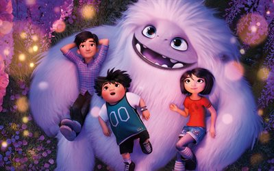 4k, Abominable, characters, 2019 movie, poster, 3D-animation, fan art, 2019 Abominable