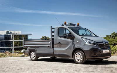 Renault Trafic, 2019, cargo truck, exterior, small truck, new gray Trafic, french trucks, Renault