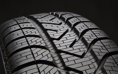 car tire, close-up, car wheel, black background, tire backgrounds, car tires, summer tire