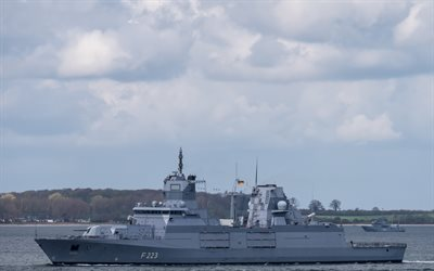 Nordrhein-Westfalen, F223, German Navy, German warship, frigate, Baden-Wurttemberg-class frigate, modern warships, Germany