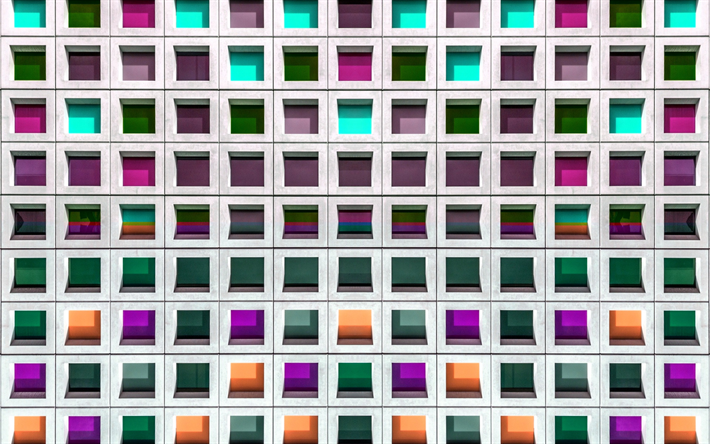 Download wallpapers colorful 3d mosaic texture, colored mosaic