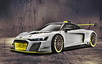 Audi R8 LMS GT2, 2020, 4k, racing car, supercar, tuning R8, German sports cars, Audi