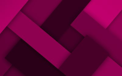 purple lines, 4k, material design, creative, geometric shapes, lollipop, lines, purple material design, strips, geometry, purple backgrounds