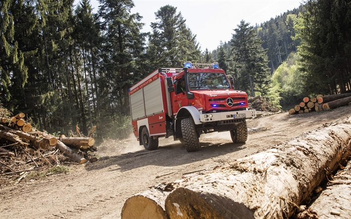 Download Wallpapers Mercedes Benz Unimog 2018 Fire Truck Suv