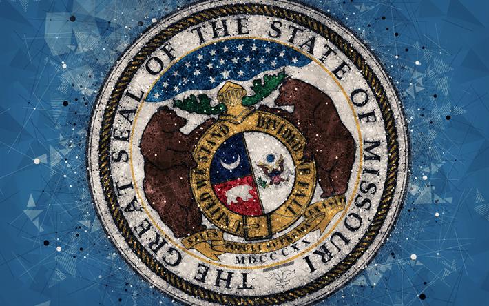 Download Wallpapers Seal Of Missouri 4k Emblem Geometric Art