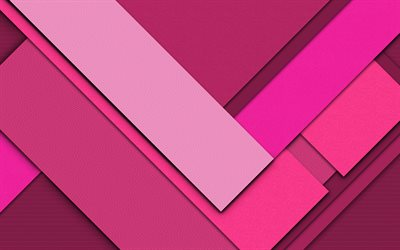 pink backgrounds, material design, geometric shapes, lollipop, pink lines, creative, abstract art