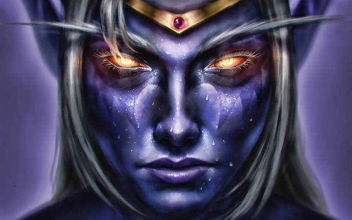Azshara, 2019 juegos, World of Warcraft, guerreros, Azshara WoW, obras de arte, monstr, WoW