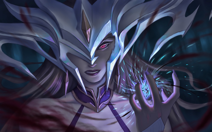Lissandra, artwork, MOBA, warrior, League of Legends, Lissandra League of Legends, League of Legends characters