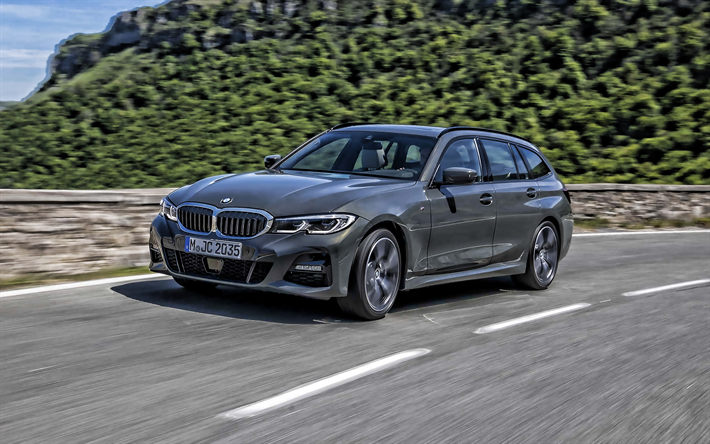 Download wallpapers BMW 3 Touring, 2020, exterior, front ...