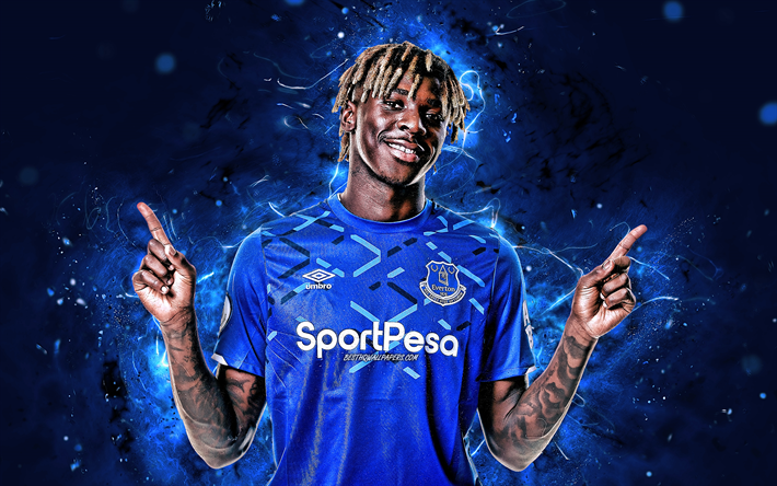Download Wallpapers Moise Kean 4k Italian Footballers Everton Fc Soccer Moise Bioty Kean Premier League Football Neon Lights Moise Kean Everton For Desktop Free Pictures For Desktop Free