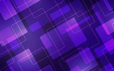 purple abstraction background, purple neon lines background, neon abstraction, geometric background, creative purple background