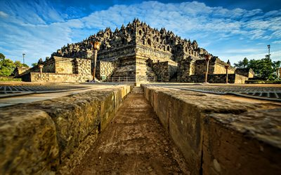 Borobudur, buddhism, Java island, temple complex, chandi, Indonesia, Asia, Indonesian landmarks