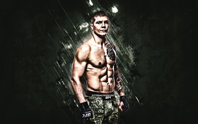 Marvin Vettori, UFC, İtalyan savaş, portre, yeşil taş, arka plan, Ultimate Fighting Championship
