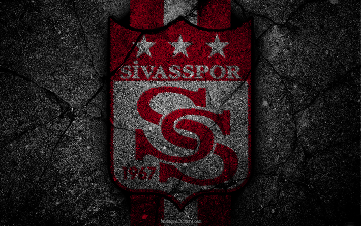 Download Wallpapers Sivasspor Logo Art Super Lig