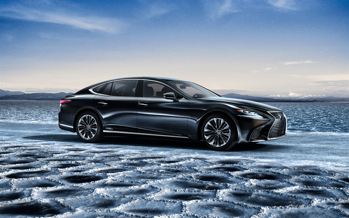 Download Wallpapers Lexus LS 500h, 2018, 4k, Luxury Car