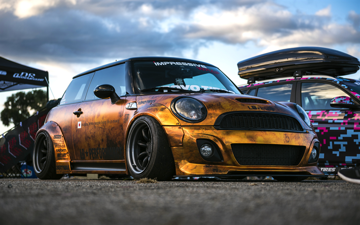 LB Performance Tuning Mini Cooper S 2017 Cars Liberty Walk Golden
