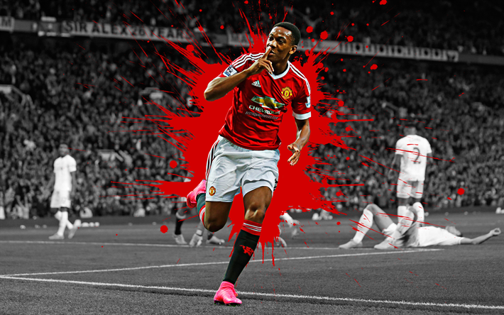 Download Wallpapers Anthony Martial, 4k, Manchester United