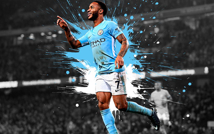Download Wallpapers Raheem Sterling 4k Manchester City Fc