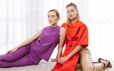 Saoirse Ronan, Margot Robbie, american actresses, photo shoot, popular actresses