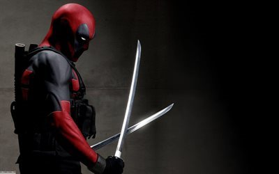 Deadpool, Ryan Reynolds, sabers, edged weapons