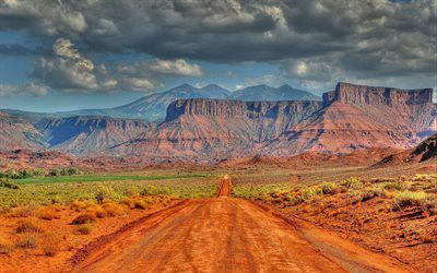 America, desert, mountains, Utah, Arizona, USA