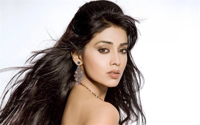 Shriya Saran, Indian actress, portrait, Indian woman, beautiful woman