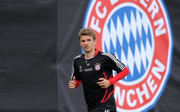 Thomas Muller, football, Bayern Munchen, Germany, Bundesliga