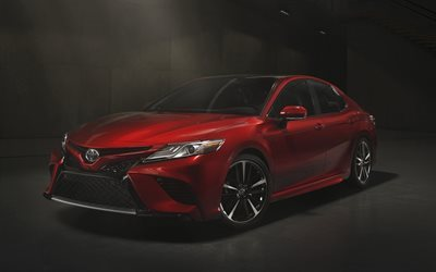 Toyota Camry, 2017, XSE, red Camry, Camry 2017, sedan
