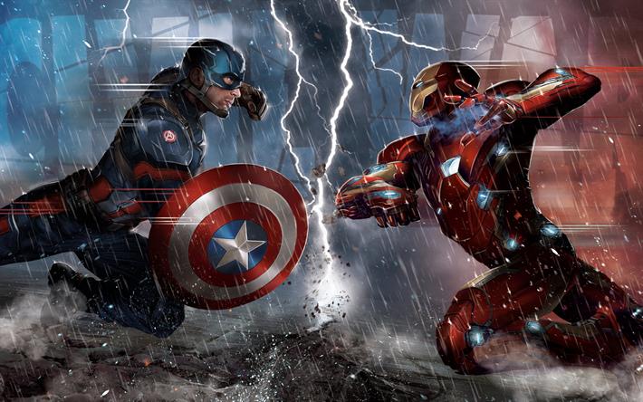 Descargar Fondos De Pantalla Iron Man Vs Capitán América