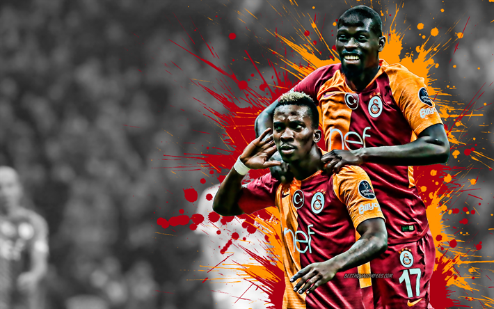 Download Wallpapers Henry Onyekuru, Badou Ndiaye, 4k