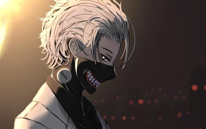 Dowload Walpaper Anime Tokyo Ghoul 2019: Download Wallpapers Ken Kaneki, Smile, Tokyo Ghoul