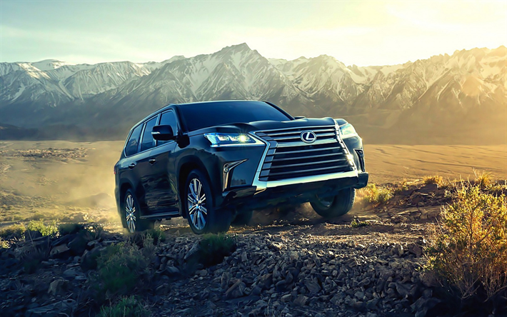 Download wallpapers Lexus LX570, 2019, Japanese luxury SUV, new