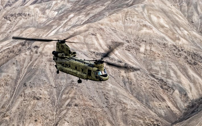 Boeing CH-47 Chinook, american military transport helicopter, heavy-lift helicopter, tandem rotor, Transport helicopter, US Army, US Air Force, Boeing
