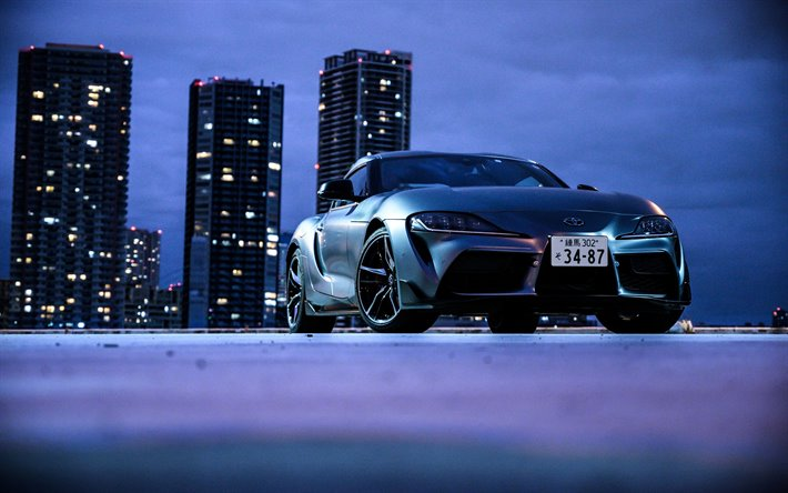 Download wallpapers 4k, Toyota GR Supra, night, A90, 2019 ...