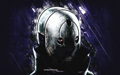Masked Obito, Naruto, Uchiha Obito, Masked Madara, Uchiha Madara, Naruto Jinraiden, blue stone background, anime characters, japanese manga