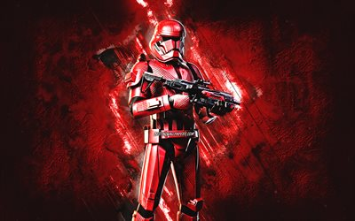 Fortnite Sith Trooper Skin, Fortnite, personagens principais, fundo de pedra vermelha, Sith Trooper, Fortnite skins, Sith Trooper Skin, Sith Trooper Fortnite, personagens Fortnite
