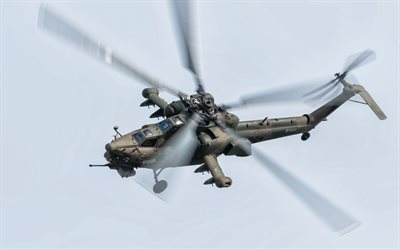 Mi-28N, Russian attack helicopter, military helicopters, Mi-28, Russian Air Force, anti-armor attack helicopter