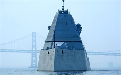 USS Michael Monsoor, DDG-1001, US Navy, guided missile destroyer, Zumwalt-class destroyer, american warships
