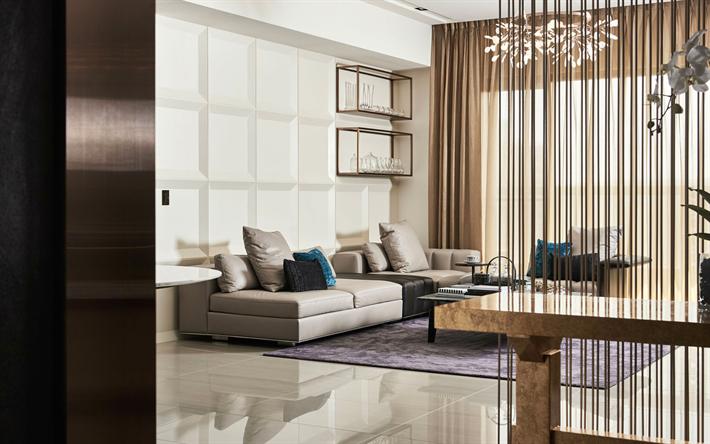 Herunterladen hintergrundbild wohnzimmer, 4k, modernes design ...
