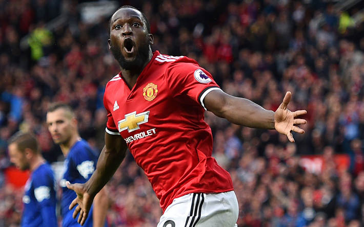 Download Wallpapers Romelu Lukaku, MU, Goal, Footballers