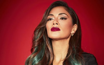 Nicole Scherzinger, American singer, make-up, portrait, beautiful woman