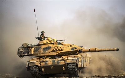 Sabra Mk II, M60 Patton, Turkish Main battle tank, desert, flag of Turkey, tanks, Armed Forces of Turkey