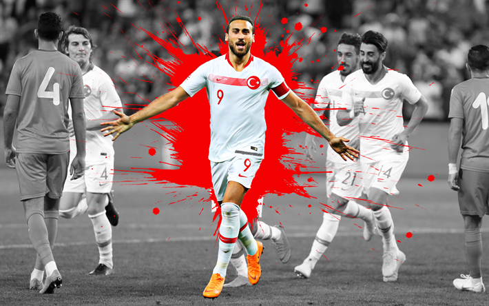 Download Wallpapers Cenk Tosun, 4k, Turkey National