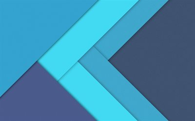 lines, 4k, arrows, strips, art, creative, blue background, material design